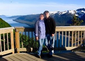 Tag Eckles and his wife in Juneau, AK